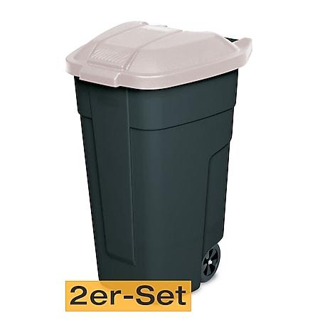 BRB Mülltonne 100 Liter VE: 2 Stück, anthrazit/beige - Bild 1