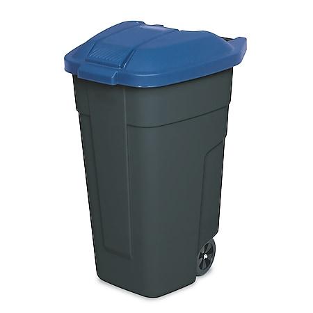 BRB Mülltonne 100 Liter VE: 2 Stück, anthrazit/blau - Bild 1