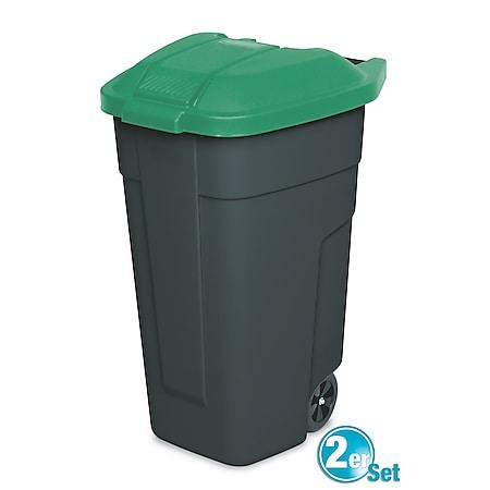 BRB Mülltonne 100 Liter VE: 2 Stück, anthrazit/grün - Bild 1