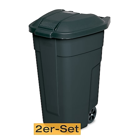 BRB Mülltonne 100 Liter VE: 2 Stück, anthrazit/anthrazit - Bild 1