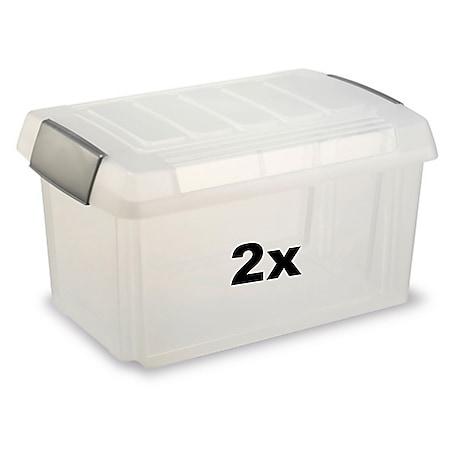 BRB Ordnerboxen 60 liter 2 Stück - Bild 1