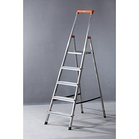 """Krause """"Solidy"""" Stufen-Stehleiter, 5 Stufen - Bild 1"""