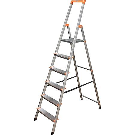 """Krause """"Solidy"""" Stufen-Stehleiter, 6 Stufen - Bild 1"""