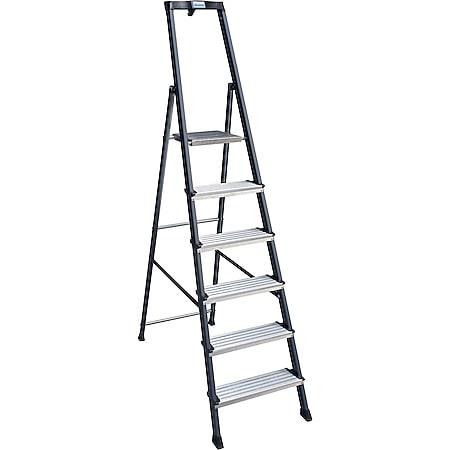 """Krause """"Securo"""" Stufen-Stehleiter, 6 Stufen - Bild 1"""