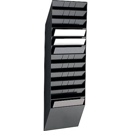 Prospektspender-Set FLEXIBOXX 12 A4 quer, schwarz - Bild 1