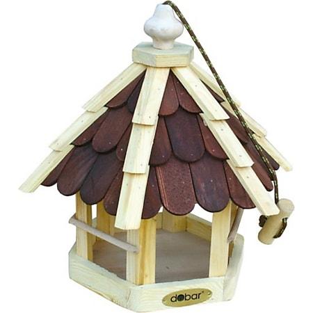dobar Futterhaus mit lasierten Holzschindeln inkl. Kordel - Bild 1