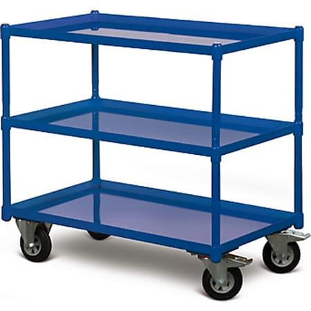 Protaurus TAUROFLEX Tischwagen 250 kg mit 3 Ladeflächen und dichten Stahlwannen, 84 x 45 cm - Bild 1