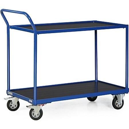 Protaurus TAUROFLEX Tischwagen 250 kg mit 2 Ladeflächen und Schiebebügel, 85 x 50 cm - Bild 1