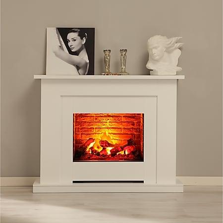 ALBERO MÖBEL Elektrokamin Sydney, Feuerraum in Klinkeroptik - Bild 1