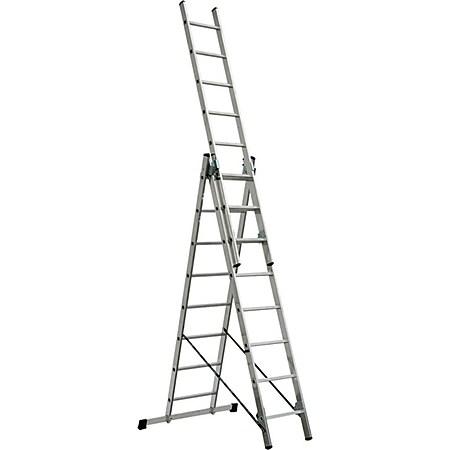 BRB Alu-Vielzweckleiter, 3x8 Stufen - Bild 1
