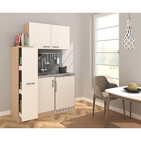 Respekta Miniküche MK130ESWOSS 130 cm weiß - Kochmulde - Bild 1