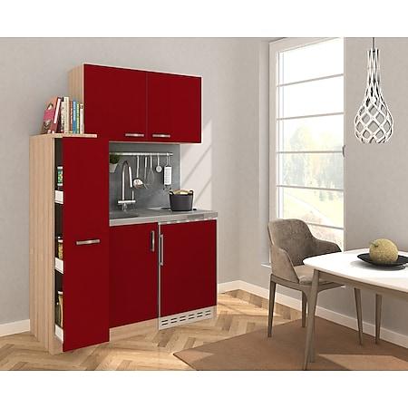 Respekta Miniküche MK130ESROSS 130 cm rot - Kochmulde - Bild 1