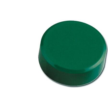 MAUL Facetterand-Magnet MAULpro, Ø 30 x 10 mm, 0,6 kg Haftkraft, 20 St./Set - grün - Bild 1