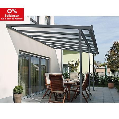Gutta 4293153 Terrassenüberdachung anthrazit, 306 x 306 cm - Bild 1