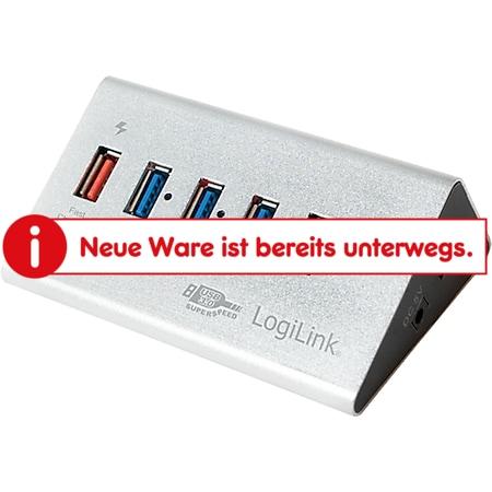 LogiLink UA0227 USB 3.0 Super Speed Hub mit 4 Ports + 1x Schnell-Ladeport - Bild 1