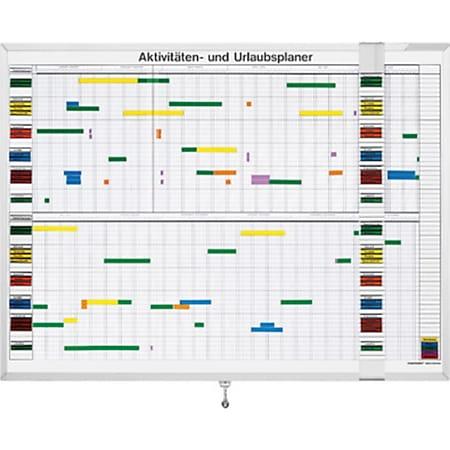 magnetoplan Aktivitäten- und Urlaubsplaner, 7-Tage-Woche - 30 Mitarbeiter - Bild 1
