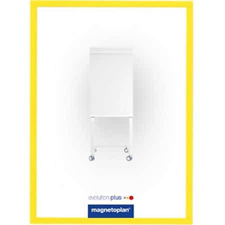 magnetoplan magnetofix-Sichtfenster A4 - 5er Pack gelb - Bild 1