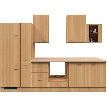 Flex-Well Küchenzeile ohne E-Geräte 310 cm L-310-2603-014 Nano - Bild 1