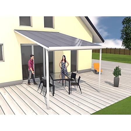 Gutta 4293112 Terrassenüberdachung weiß, 306 x 406 cm - Bild 1