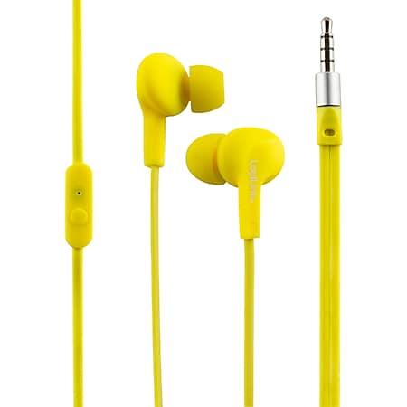 LogiLink HS0043 Wassergeschütztes (IPX6) Stereo In-Ear Headset - gelb - Bild 1