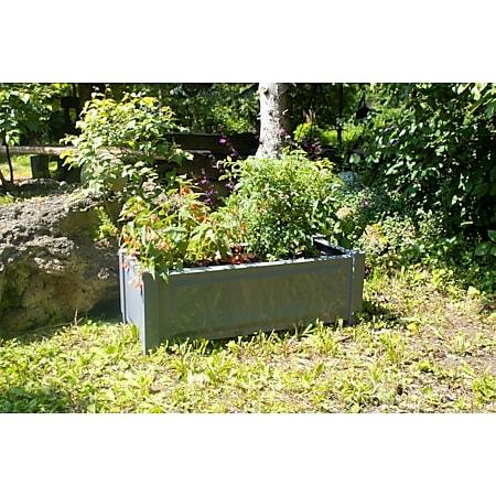Pflanzkasten rechteckig, grau - Bild 1