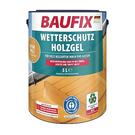 BAUFIX Wetterschutz-Holzgel eiche hell, 5 Liter - Bild 1