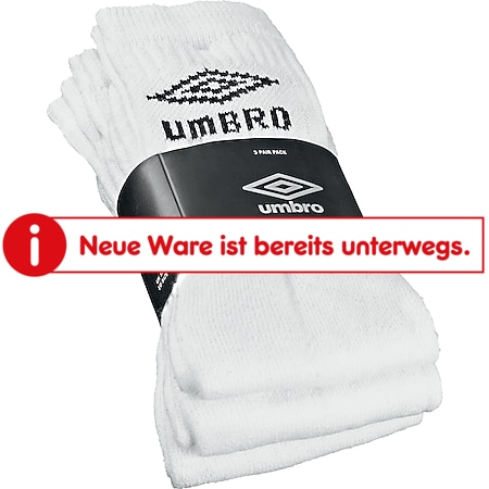 Umbro Sport Socken 3er, weiß 39 - 42 - Bild 1