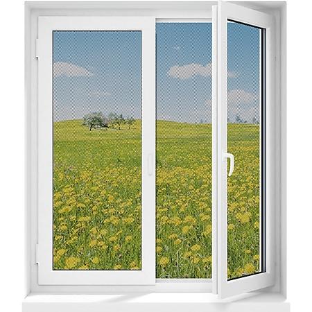 EASYmaxx Moskitonetz 150x130cm schwarz 12 Magnetbefestigung für Fenster - Bild 1