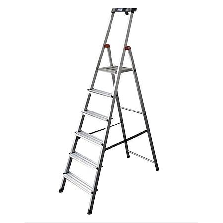 Krause Safety Alu-Leiter, 6 Stufen - Bild 1