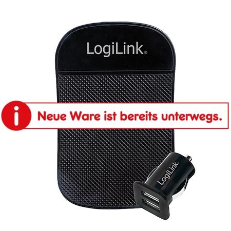 LogiLink Kfz Ladeadapter mit 2-fach USB-Port + Antirutschmatte - Bild 1