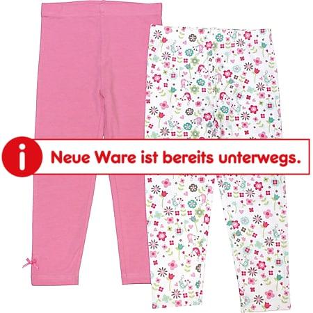 Kinder Leggings, 2er Pack - Gr. 110/116 rosa + Allover - Bild 1