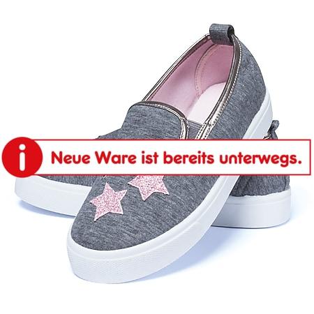 Kinder Slipper - Gr. 28 grau mit Sternen - Bild 1