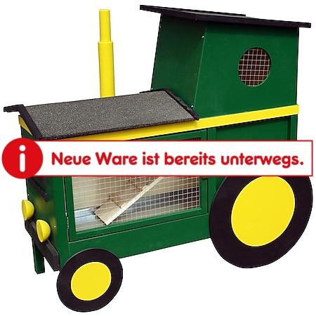 Dobar Dekorativer Kleintierstall im grün-gelben Traktor-Design, mit Ruheraum, Treppe & Zinkwanne - Bild 1