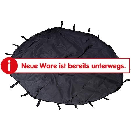 Dobar 8-eckige Nylon-Unterlage für Kleintier-Freigehege, 135 x 135 cm großer Abdeckboden mit Schlaufen in schwarz - Bild 1