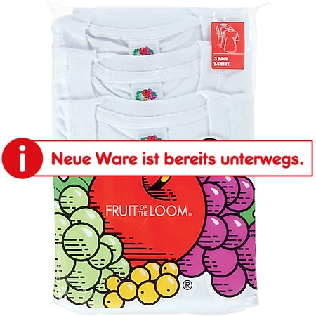 Fruit of the Loom T-Shirt 3er Pack weiss Gr.M - Bild 1