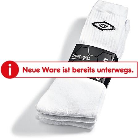 Umbro Sportsocken - 3er Pack, weiß mit schwarzem Logo, Gr. 43-46 - Bild 1