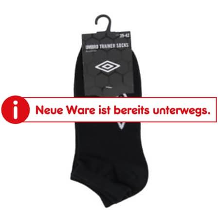 Umbro Sneaker Socken - 3er Pack, schwarz kurz Gr. 39-42 - Bild 1