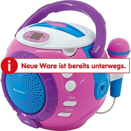 Soundmaster KCD1600PI CD Player mit Mikrofon, pink - Bild 1