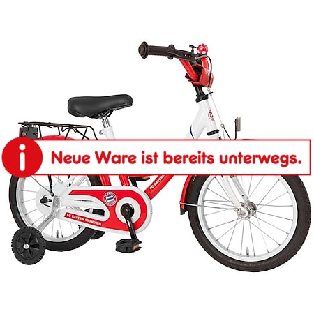 "Bachtenkirch 16"" Kinderfahrrad FanBike ""FC BAYERN MÜNCHEN"" rot/weiß - Bild 1"