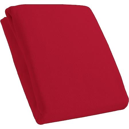 Kinzler Spannbetttuch Mikrofaser Fleece, rot  ca. 160 x 200 cm - Bild 1