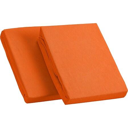 Kinzler Frottee Spannbetttuch im Doppelpack, terra ca. 90 – 100 x 200 cm - Bild 1