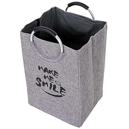 Wäschesammler MCW-C38, Laundry Wäschekorb Wäschebox Wäschesack Wäschebehälter mit Netz, faltbar 62x36x30cm 50l - Bild 1