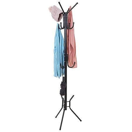 Garderobenständer MCW-B76, Standgarderobe Kleiderständer 180x40x40cm ~ schwarz - Bild 1