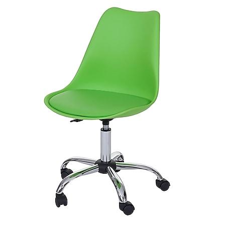 Drehstuhl Malmö MCW-B15, Bürostuhl Arbeitshocker, höhenverstellbar ~ Kunstleder, grün - Bild 1