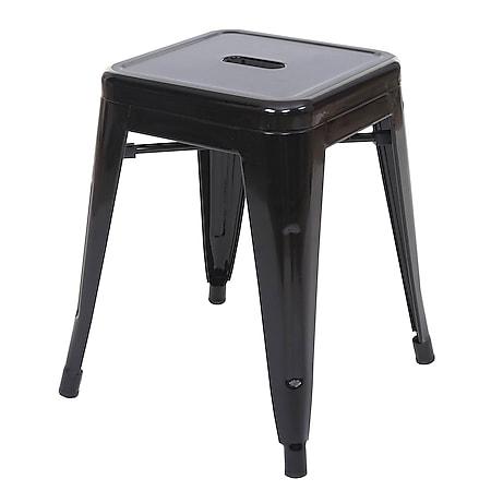 Hocker MCW-A73, Metallhocker Sitzhocker, Metall Industriedesign stapelbar ~ schwarz - Bild 1