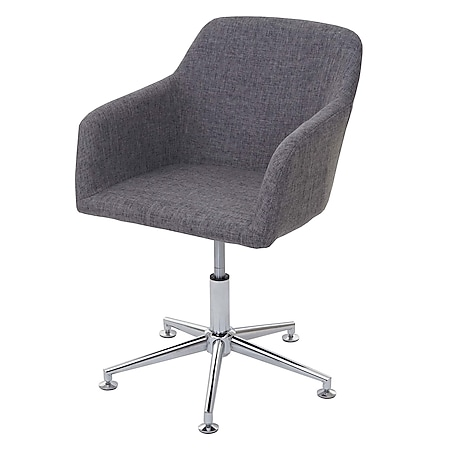 Esszimmerstuhl MCW-A74, Drehstuhl Loungesessel, höhenverstellbar ~ Textil, grau - Bild 1