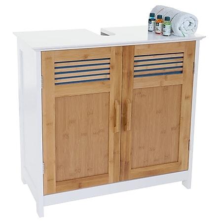Waschbeckenunterschrank MCW-A85, Badschrank 60x60x30cm ~ bambus - Bild 1
