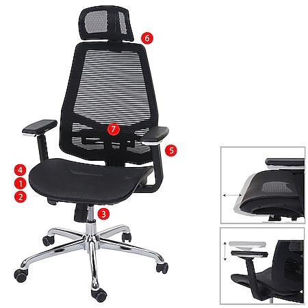 Bürostuhl MCW-A58, Schreibtischstuhl, Sliding-Funktion Stoff/Textil ISO9001 ~ schwarz/schwarz - Bild 1