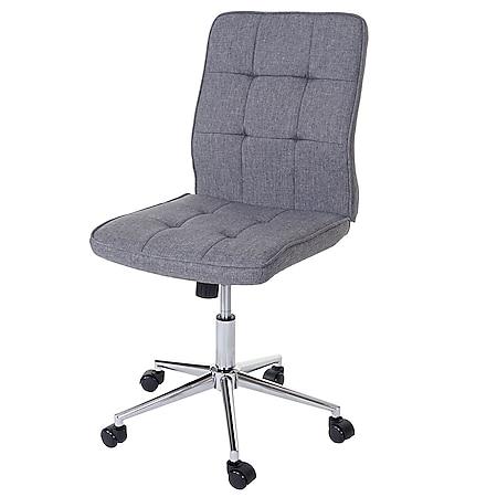 Bürostuhl Sisak, Drehstuhl Arbeitshocker Schreibtischstuhl, Textil grau - Bild 1