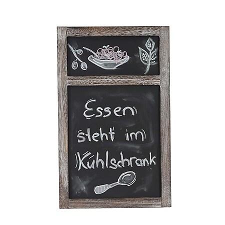 Werbetafel MCW-C51, Wandtafel Kreidetafel, 55x34x2cm Shabby-Look Vintage ~ braun - Bild 1